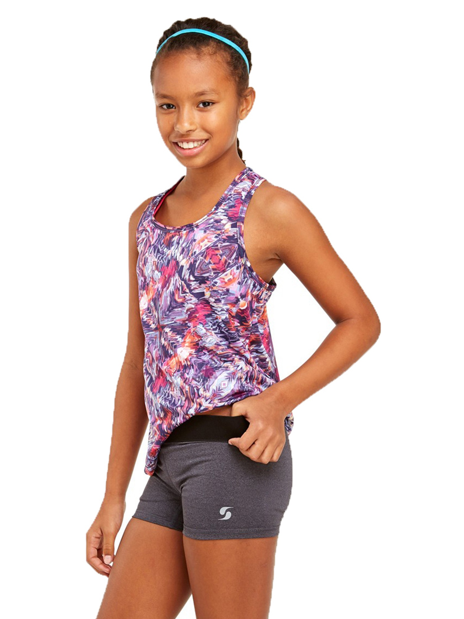 Summer Daisy X-Large Soffe Girls Big Dri Short