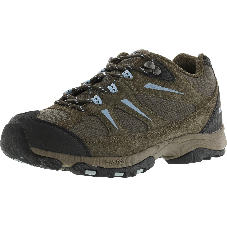 Hi-Tec Women's Trail Ii Dark Taupe   Powder Blue Ankle-High Fabric Hiking Boot 8W by Hi-Tec