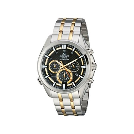 Casio Men's EDIFICE Neon Illuminator Two Tone Stainless Steel Chronograph (X-ray Illuminator Two Bank)