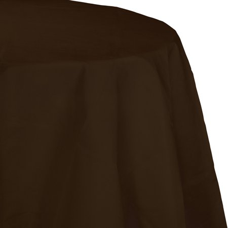 Chocolate Brown Octy Round Tablecloth, each