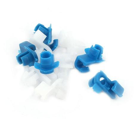 10 Pcs 7.5mm x 5mm Garniture Clips Pare-Chocs Rivets Plastiques Agrafes Blanc Bleu - image 1 de 1