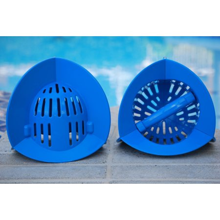 AquaLogix Blue Max Resistance Omni-Directional Aquatic Dumbells - Upper Body Pool Exercise Equipment - Includes Online Demonstration Video Link (Bells Pair (Swimming Equipment)