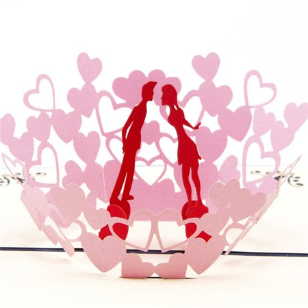 3D Pop Up Cards Wedding Lover Happy Birthday Anniversary Greeting Cards A