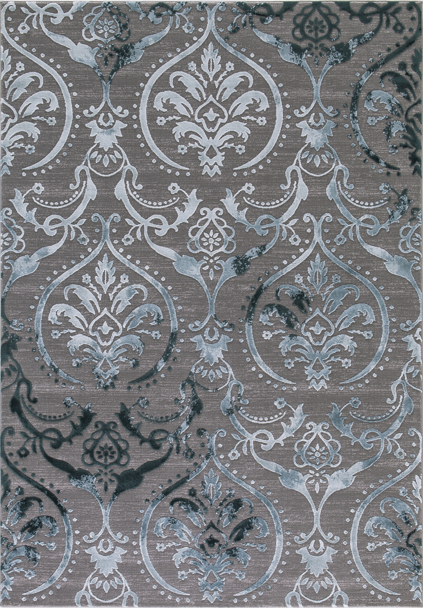 Concord Global Trading Thema Collection Large Damask Area Rug