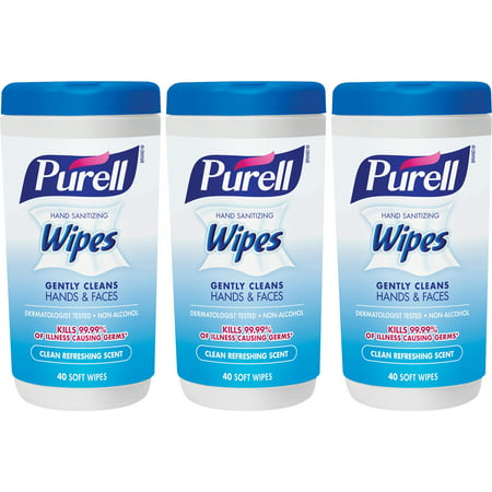Purell Hand Sanitizing Wipes - Clean Refreshing Scent, 40 sheets (Pack of 3)