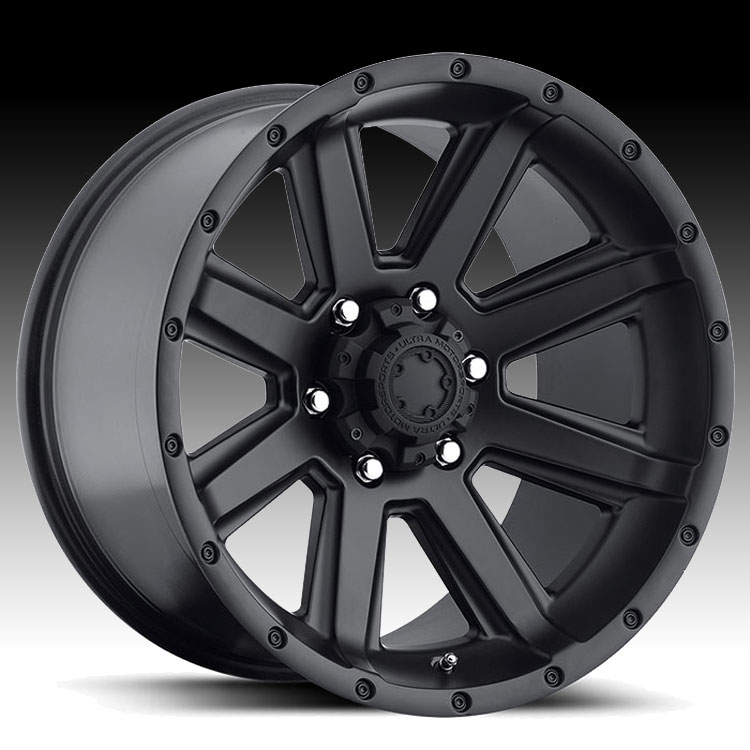 Ultra 195 Crusher Satin Black 20x9 6x135 30mm (195-2963SB)