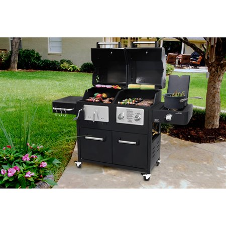 Brinkmann 3 Burner Dual Function Gas Charcoal Grill   Tyres2c