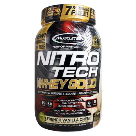 French Vanilla Creme - Muscletech Products - Nitro-Tech Performance Series 100% Whey Gold French Vanilla Creme - 2.5 lbs.