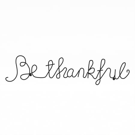Metal Cutout- Be Thankful Cursive Cutout Sign-3D Word Art Home Accent Decor-Perfect for Modern Rustic or Vintage Farmhouse Style by Lavish Home ()