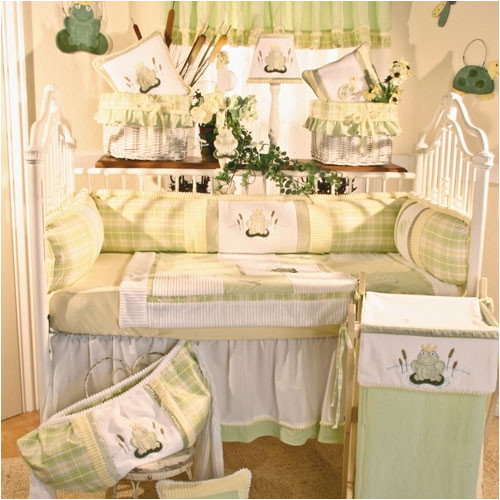 Brandee Danielle Ribbit 4 Piece Crib Bedding Set