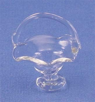 Dollhouse Glass Pedestal Fruit Basket