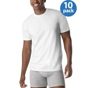 65819e91 Hanes Men's ComfortSoft White Crew Neck T-Shirt 10 Pack SUPER VALUE
