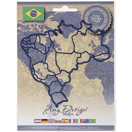 Find It Trading Brazil Amy Design Map Die - image 1 de 1