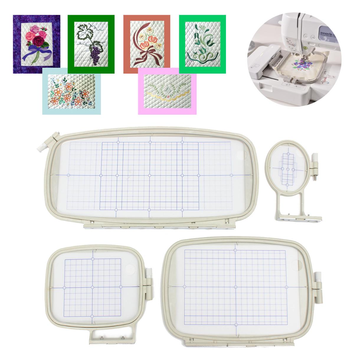 Embroidery hoop set (4 IN 1)sewing hoop frame brother PE-750D 780D PE-770 1250D