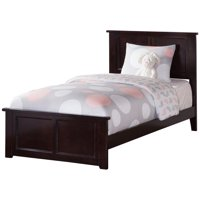 Leo & Lacey Twin XL Traditional Panel Bed in Espresso