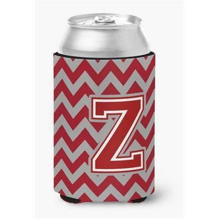 Letter Z Chevron Maroon & White Can or Bottle Hugger, 0.25 x 4 x 5.5 in. - image 1 de 1
