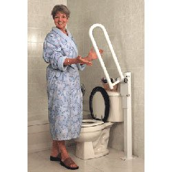 HealthCraft PT Rail Floor Mast - White Healthcraft Grab Bar