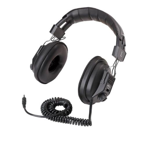 Califone Switchable Stereo/Mono Wired Headphones, Black