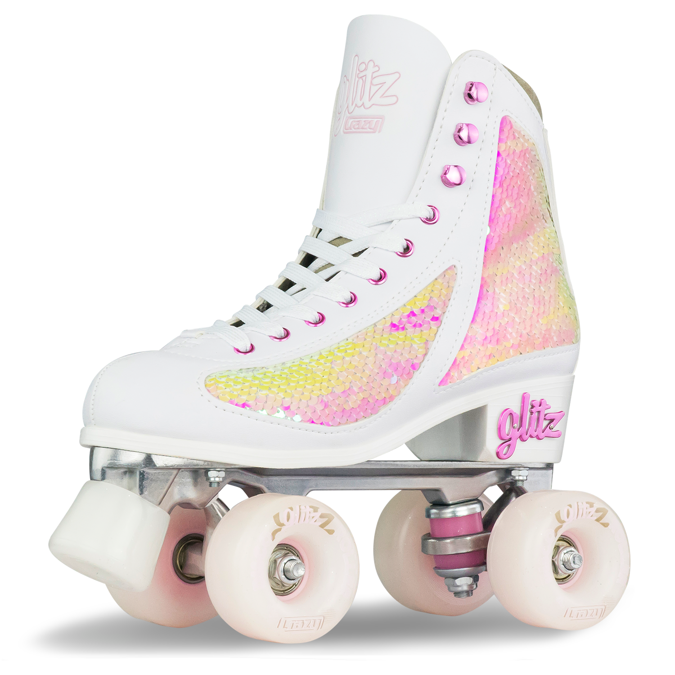 Crazy Skates Glitz Roller Skates For Women And Girls Dazzling Glitter Size 1