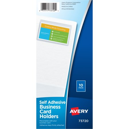 Office Depot Business Cards (Avery Self-Adhesive Business Card Holders, 10 Holders)