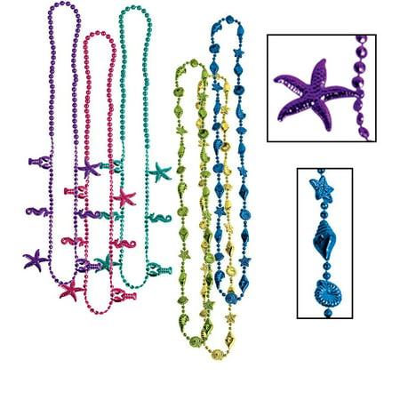 Luau Beads, 32-inch Multicolored (6/pkg) Pkg/12
