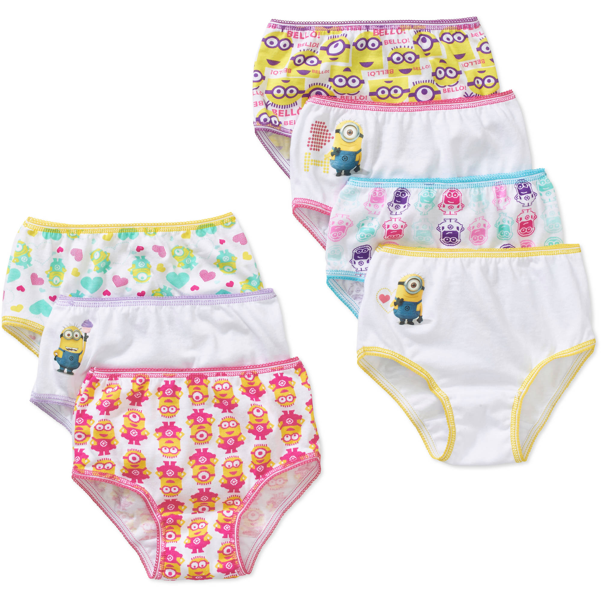Despicable Me Toddler Girls Underwear, 7 Pack