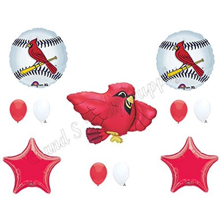 St. Louis Cardinals Happy Birthday Party Balloons Decoration Supplies Game Day