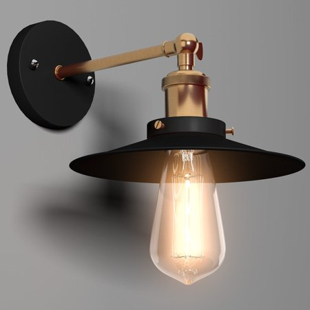 Costway Vintage Industrial Simplicity Edison Wall Mount Light Sconces Lamp 1-light Bulb ()