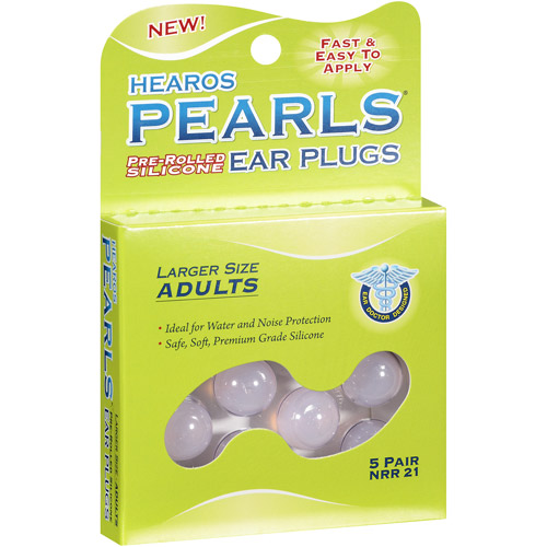 Hearos Adults Pearls Ear Plugs, Large, 5ct