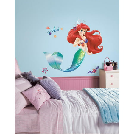 ARIEL The LITTLE MERMAID wall stickers Disney Princess MURAL 21 wall decals Girls Room Decpr](Little Mermaid Stickers)