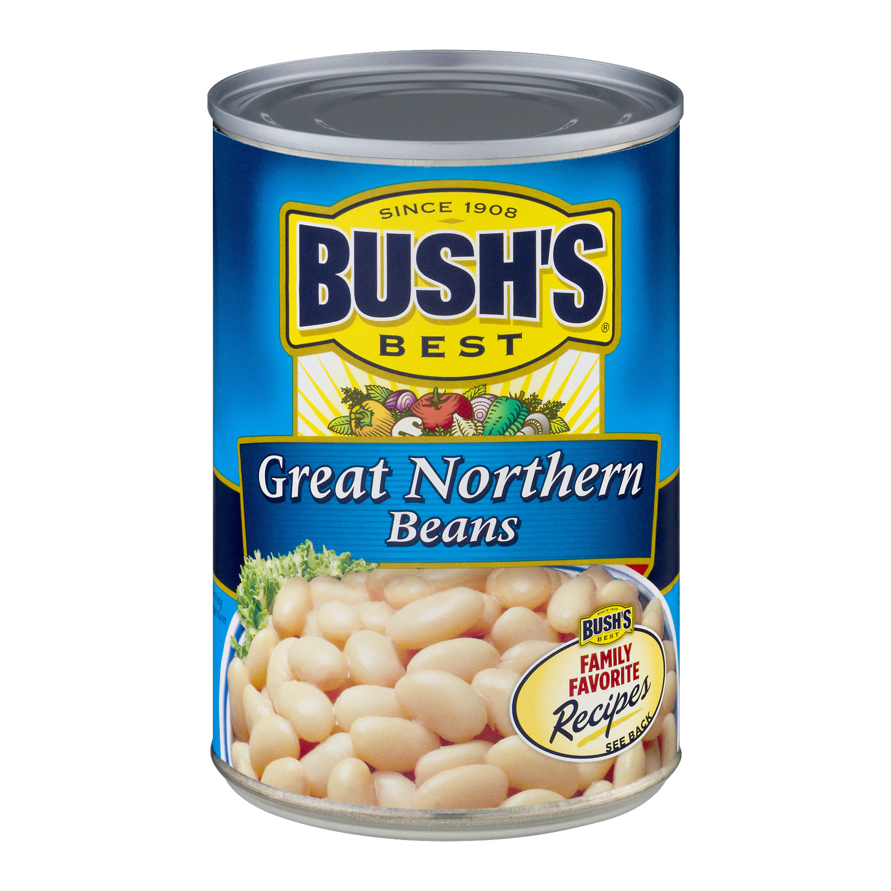 BUSH'S BEST Great Northern Beans, 15.8 OZ