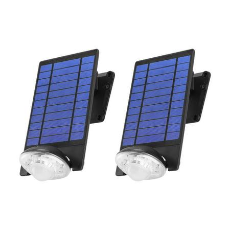 - Link2Home EM-SL451B 250 Lumen LED Solar Security Adjustable Single-Head Sensor Spotlight with Photocell Technology in Black,2pk