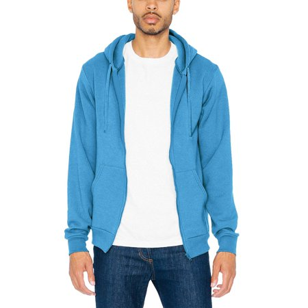 Hc Mens Zip Up Hoodie Fleece Sweatshirts Lightweight Fitted Active Hooded Long Sleeve Unisex Jackets 1Hcd0011