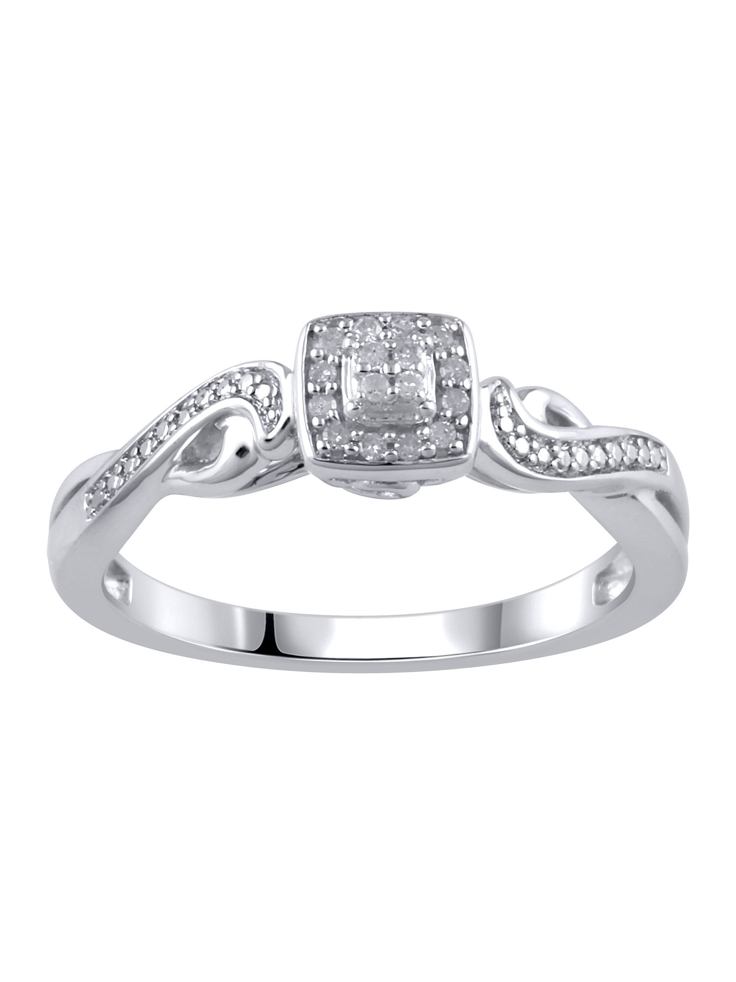 Hold My Hand 120 Carat TW Sterling Silver Promise Ring Walmartcom