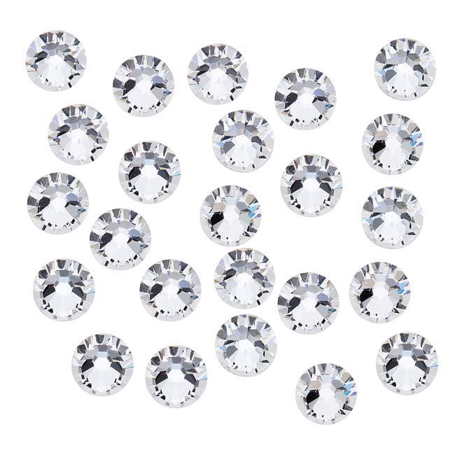 Swarovski Crystal, Round Flatback Rhinestone SS30 6.5mm, 25 Pieces, Crystal