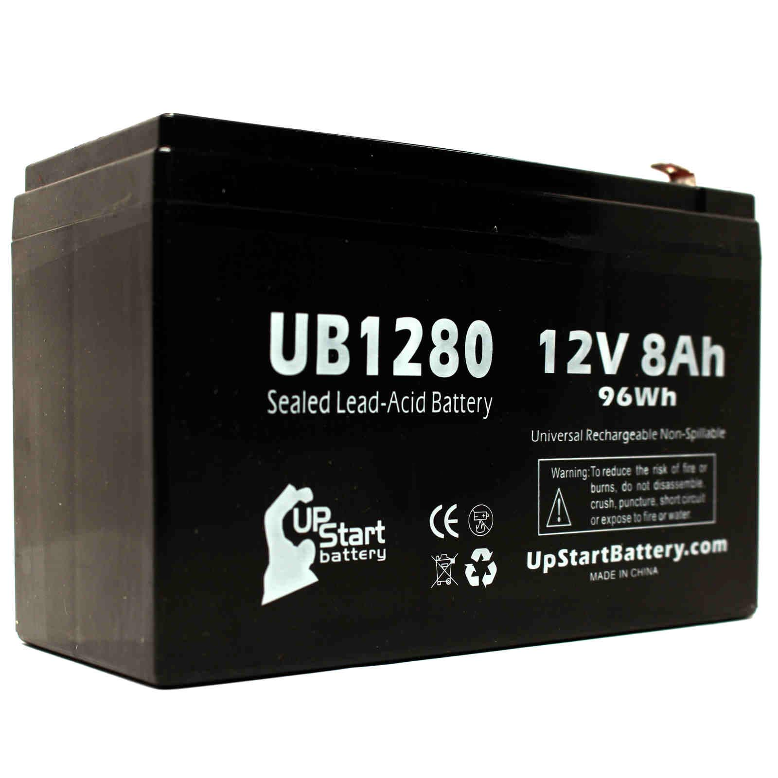 Tripp Lite SMART750USB Battery Replacement - UB1280 Universal Sealed Lead Acid Battery (12V, 8Ah, 8000mAh, F1 Terminal, AGM, SLA) - Includes TWO F1 to F2 Terminal Adapters - image 2 of 4