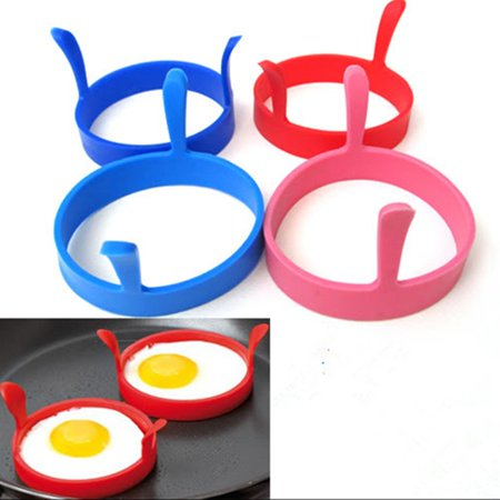 2/4/6Pcs Egg Ring,Round Silicone Fried Egg Ring Mold Frier Oven Poacher Pancake Egg Poach Ring Mould Kitchen ( Random Color) School Season Discount