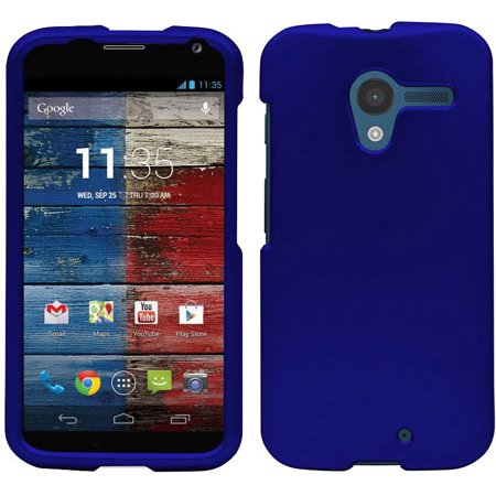 ROYAL BLUE RUBBERIZED HARD SKIN CASE PROTECTOR COVER FOR MOTOROLA MOTO X 1st Gen