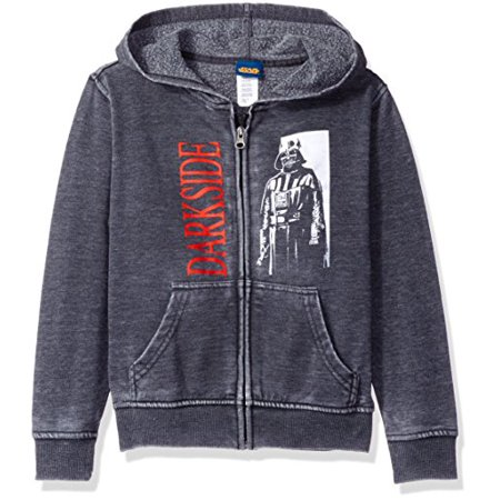 Star Wars Big Boys Darth Vader Burnout Fleece Jacket, Charcoal Heather, - Burnout Silk Jacket