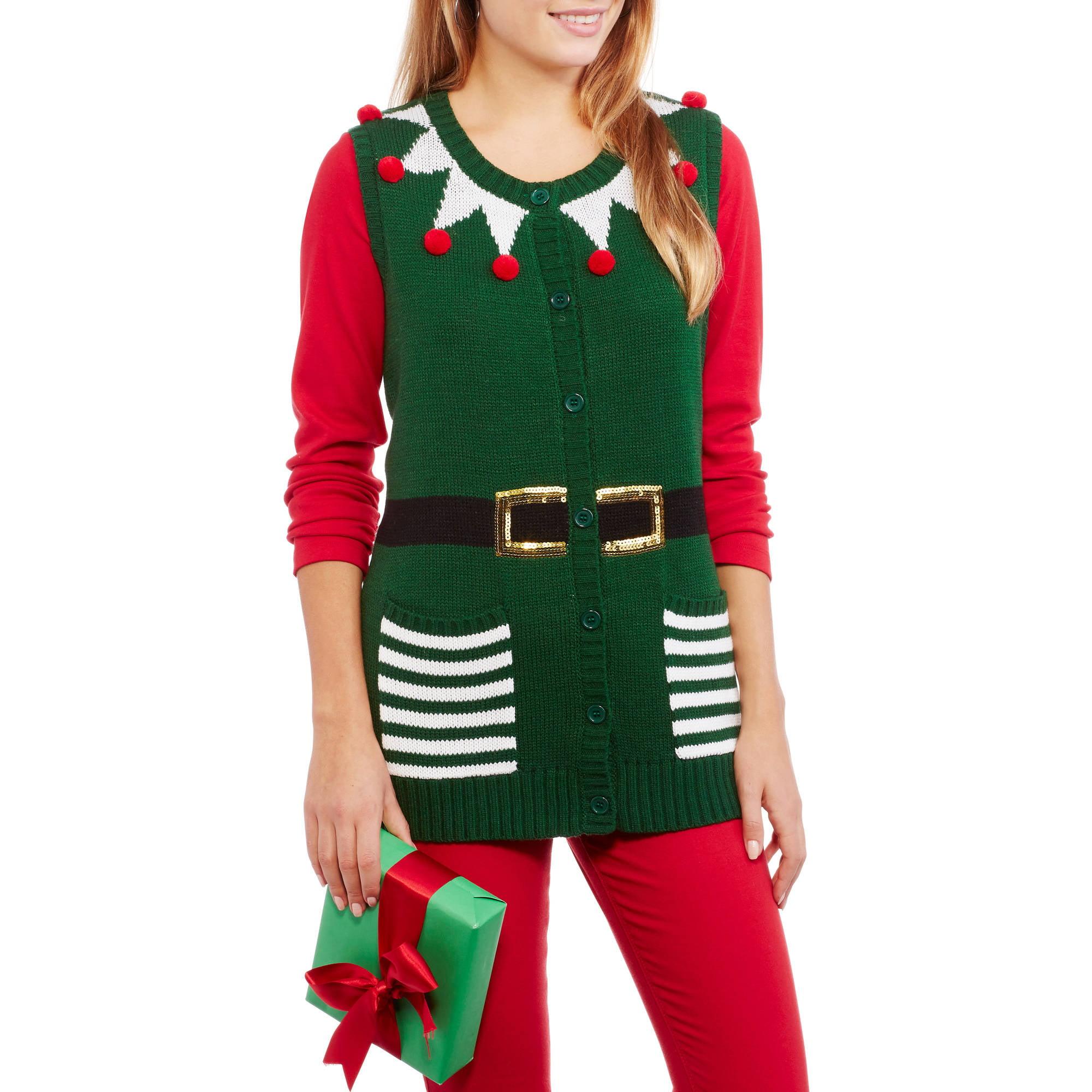 No Boundaries Juniors' Holiday Christmas Sweater Vest