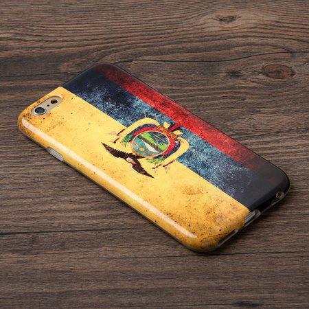 Insten Patriotic Vintage Flag Series Imd TPU Rubber Skin Gel Case For Apple iPhone 6 / 6s - Ecuador - image 3 de 6