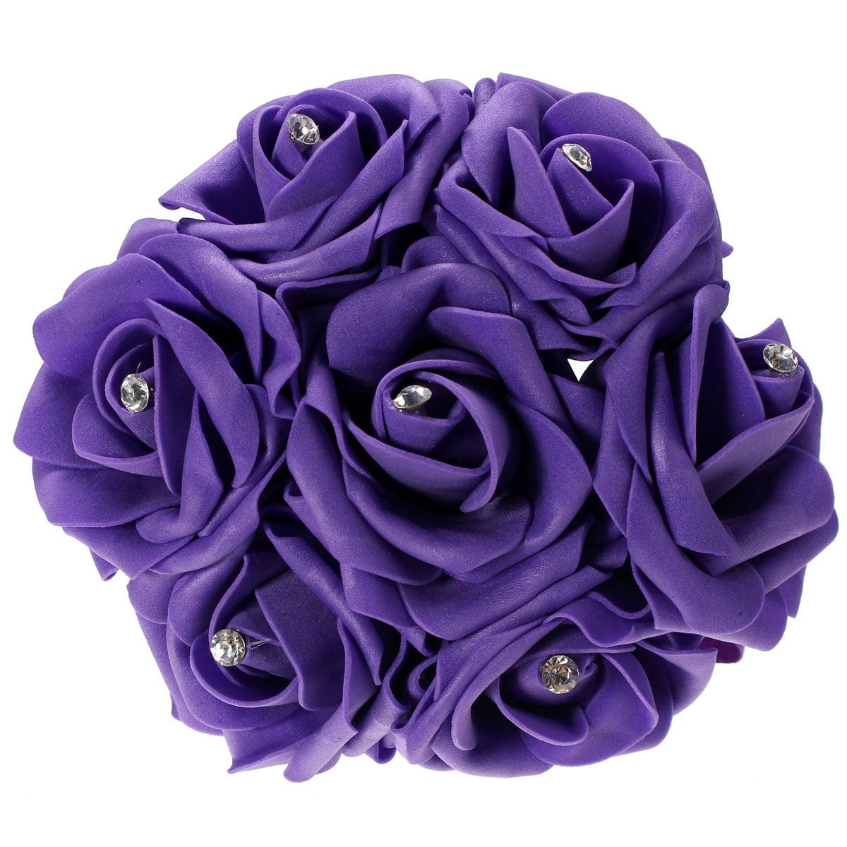 7PCS Artificial Foam Flower Rose Craft Bridal Bride Bouquet Wedding Party Decor