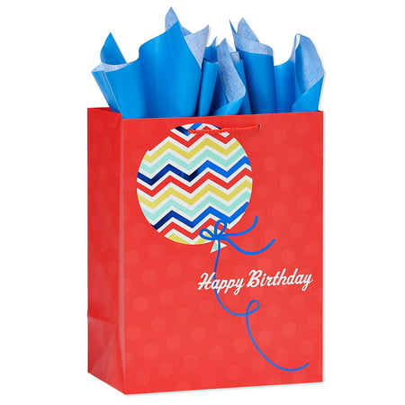 American greetings medium happy birthday balloon gift bag with american greetings medium happy birthday balloon gift bag with tissue paper m4hsunfo
