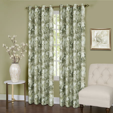 Tranquil - Lined Grommet Window Curtain Panel (Lions Drapes)
