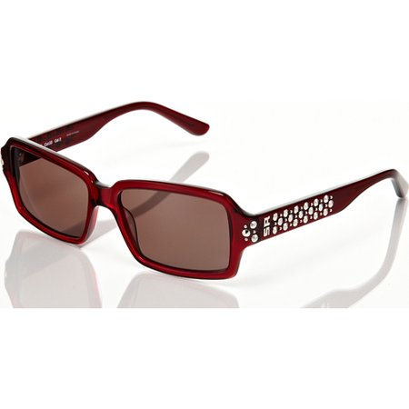 Sonia Rykiel Red Frame with Brown Lens and Studded Detail Sunglasses