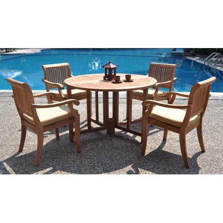 Teak Dining Set:4 Seater 5 Pc - 48