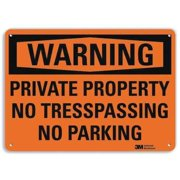 LYLE U6-1205-RA_14X10 Admittance Sign,No Parking,10 in. H,Text