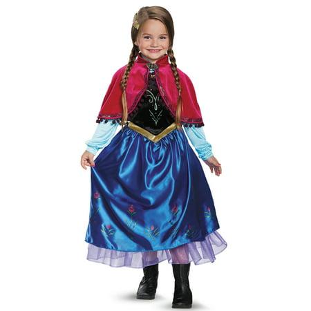Frozen Girls' Anna Deluxe Costume