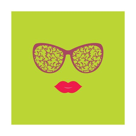 sunglasses and lips vector illustration print for your t shirts