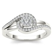 De Couer  10k White Gold 1/5ct TDW Diamond Promise Fashion Ring (H-I, I2)